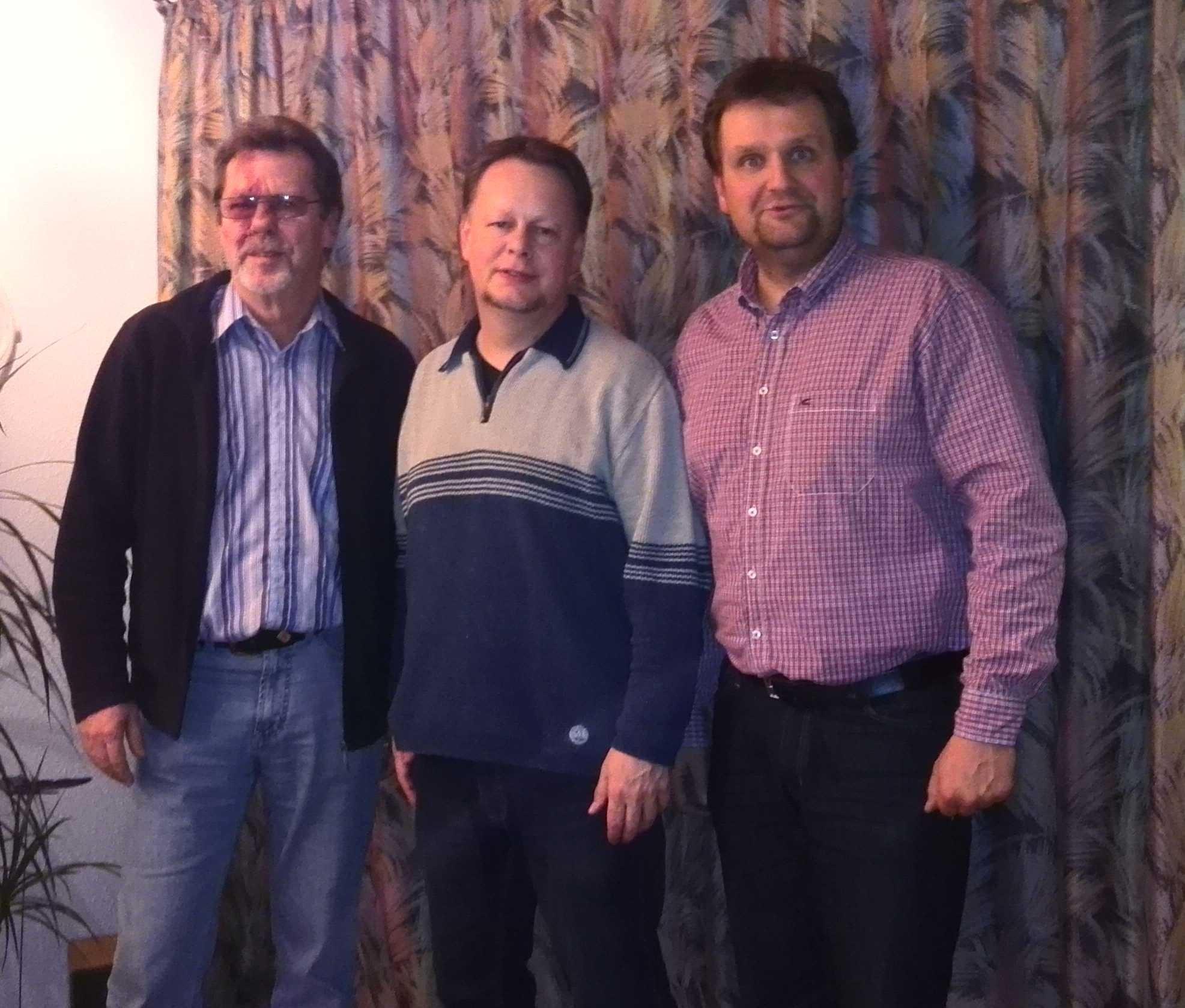 Von links: Walter Mohrmann (stellv. Vorsitzender), Jan von Gartzen (Vorsitzender), Heiko Scharnweber (Kassenwart)