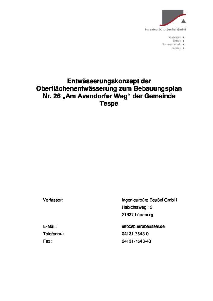 """Auslegung B-Plan 26 """"Avendorfer Weg"""" – Wiederholte 2.erneute Auslegung"""